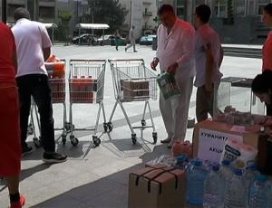 Здружението  Пантелејмон  донираше храна и облека за поплавените